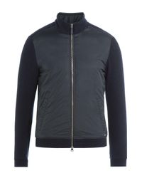 Woolrich - Black Zipped Jacket With Wool And Cotton for Men - Lyst