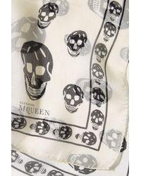 Alexander McQueen - Multicolor Printed Silk Chiffon Scarf - Lyst
