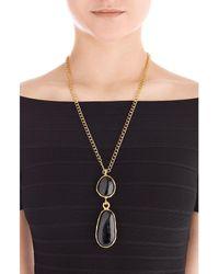 Kenneth Jay Lane - Black Embellished Necklace - Lyst