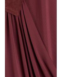 Tamara Mellon - Red Asymmetric Jersey Dress - Lyst
