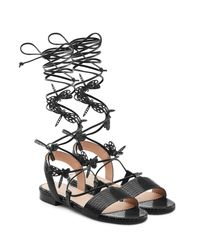 RED Valentino - Multicolor Leather Sandals - Lyst