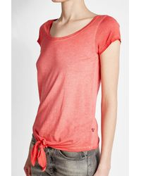 True Religion Pink Tie-front T-shirt With Cotton
