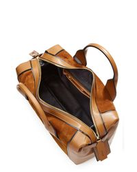 Pierre Hardy | Brown Duffle Medium Leather And Suede Tote | Lyst