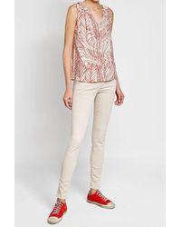 Velvet - Pink Printed Sleeveless Blouse - Lyst