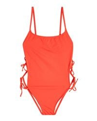 Solid & Striped - Red The Lily Swimsuit - Lyst