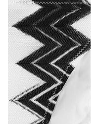 Missoni - Black Chevron Knit Triangle Bikini - Lyst