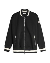 Moncler - Black Knit Bomber Jacket - Lyst