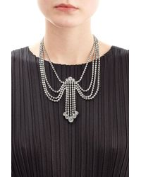 Marc Jacobs - Metallic Statement Crystal Necklace - Lyst