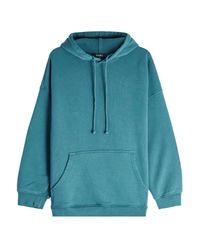 Yeezy - Blue Cotton Hoodie - Lyst