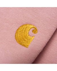 Carhartt - Pink Wip Chase Sweatshirt for Men - Lyst