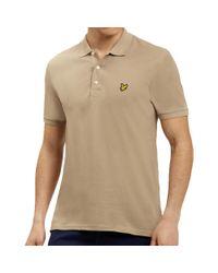 Lyle & Scott Natural Lyle And Scott Plain Polo Shirt for men