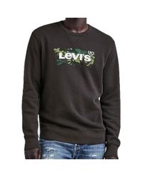 Levi's Black Levi's Graphic Crew Neck Sweatshirt for men