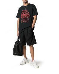 T-shirt con stampa di Alexander McQueen in Black da Uomo