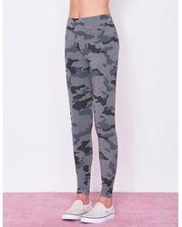 Sundry Gray Star And Heart Camo Yoga Pant
