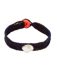 Dezso by Sara Beltran | Blue Classic Anadara Silver Mexican Bracelet | Lyst