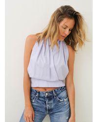 Nikki Chasin | Blue Gamble Halter | Lyst
