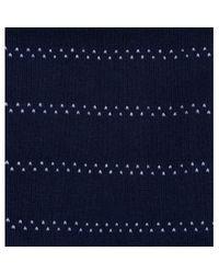 Sunspel - Blue Men's Long-staple Cotton Patterned Socks In Navy / White Pin Dot Stripe for Men - Lyst
