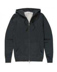 Sunspel | Men's Cotton Loopback Zip Hoody In Black Marl for Men | Lyst