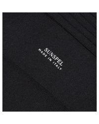 Sunspel - Men's Merino Cotton Socks In Black for Men - Lyst