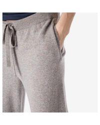 Sunspel Gray Women's Lambswool Lounge Pant In Marble