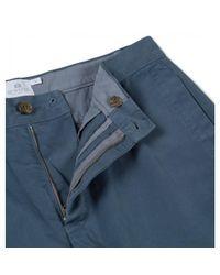 Sunspel Men's Cotton Twill Chino Short In Blue Slate for men