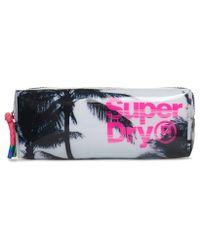 Superdry White Super Jelly Pencil Case