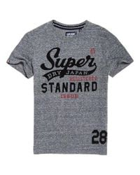Superdry Gray Standard Issue T-shirt for men