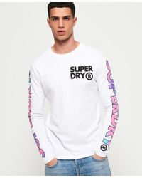 Superdry White Echo Beach Long Sleeve T-shirt for men