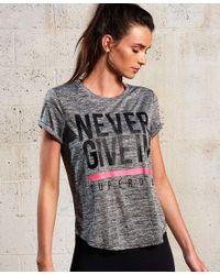 Camiseta SD Sport Fitspiration Superdry de color Gray