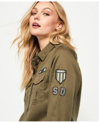 Superdry - Green Military Shirt - Lyst