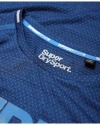 Superdry - Blue Active Microvent Graphic T-shirt for Men - Lyst