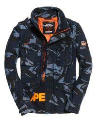 Superdry Blue Indigo Rookie Pocket Jacket for men