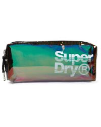 Superdry Black Super Jelly Pencil Case
