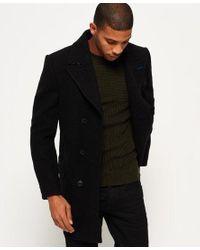 Superdry Black Ie Iconic Battle Dress Coat for men
