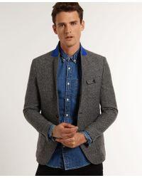 Superdry Gray San Franciscan Jacket for men