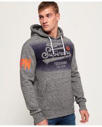 Superdry Gray High Flyers Hoodie for men