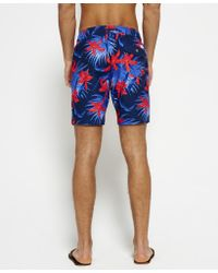 Superdry - Blue Vacation Paradise Swim Shorts for Men - Lyst