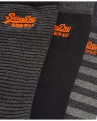 Superdry - Black City Sock Triple Packs for Men - Lyst