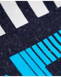 Superdry Blue Sport Label Diagonal Jogger