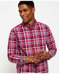 Superdry Red Oxford Washbasket Shirt for men