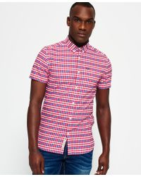 Superdry | Red Ultimate University Oxford Shirt for Men | Lyst