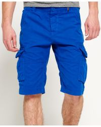 Superdry - Blue Core Cargo Lite Shorts for Men - Lyst