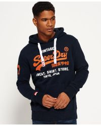 Superdry Blue Sweat Shirt Store Hoodie for men
