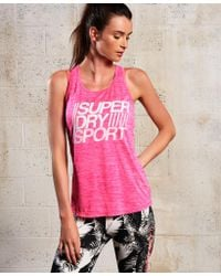 Superdry - Gray Sd Sport Fitspiration Tank Top - Lyst