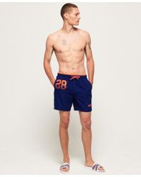 Superdry Blue Water Polo Swim Shorts for men