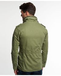 Superdry Green Rookie Military Jacket for men