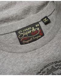 Superdry - Gray Tiger Gemstone Knit Jumper - Lyst