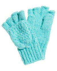 Superdry Blue Clarrie Stitch Gloves