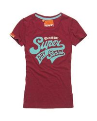 Superdry Red Supersonic T-shirt