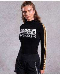 Body de cuello alto Street Sport Superdry de color Black